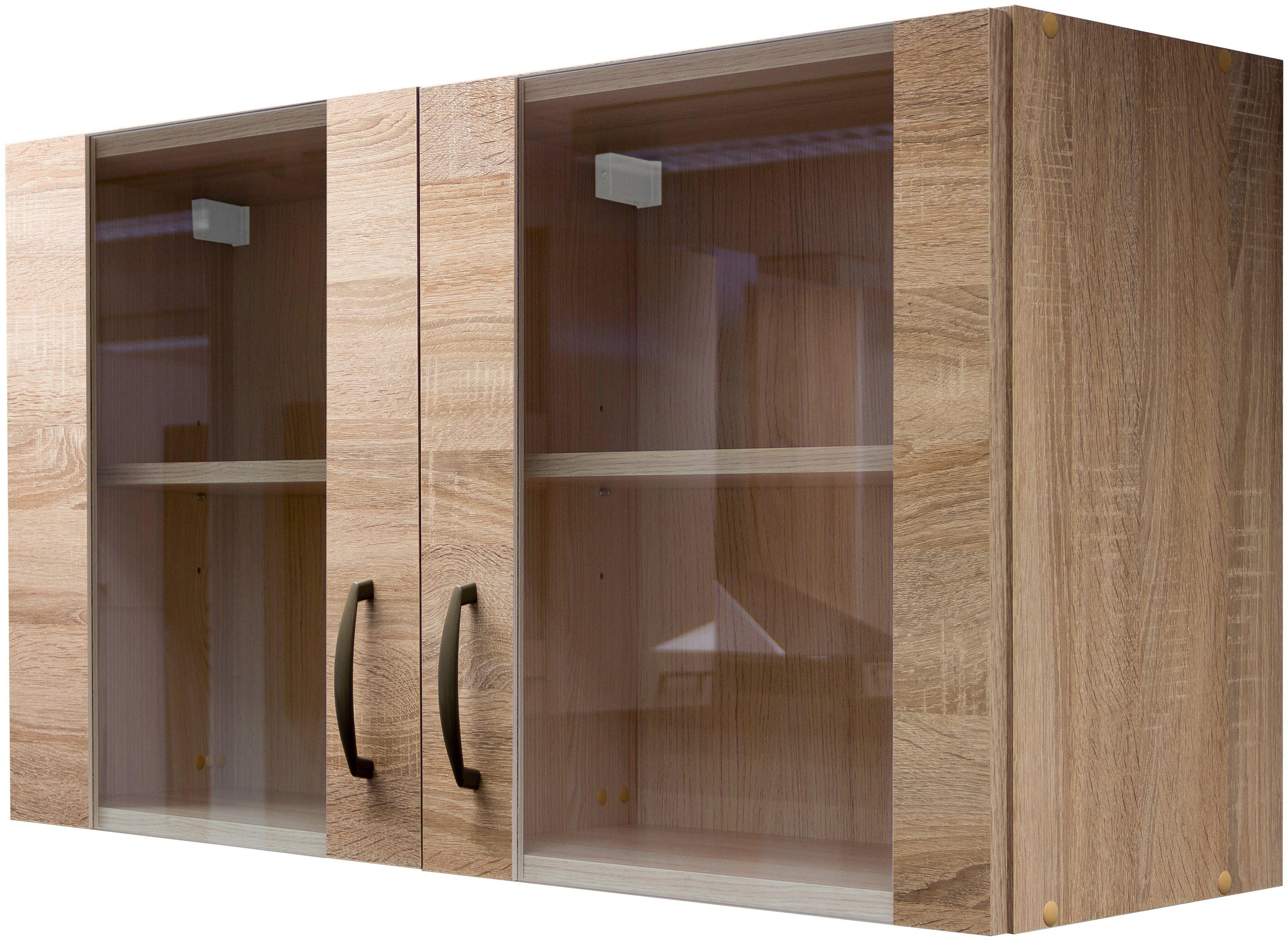 Glas-Küchenhängeschrank »Bergen«, Breite 100 cm