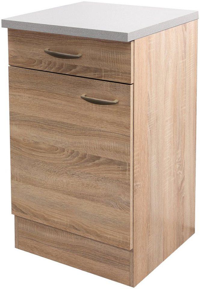 Küchenunterschrank »Bergen«, Breite 50 cm/ Tiefe 60 cm in eichefarben sonoma