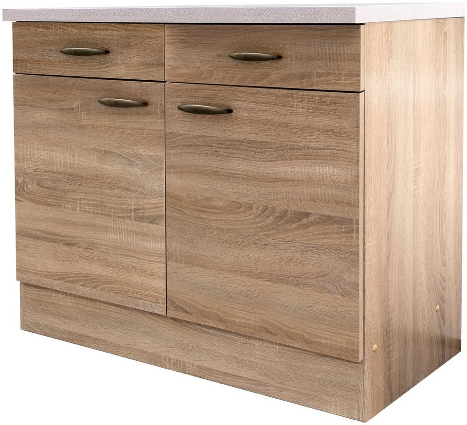 k chenunterschrank bergen breite 100 cm tiefe 50 cm online kaufen otto. Black Bedroom Furniture Sets. Home Design Ideas