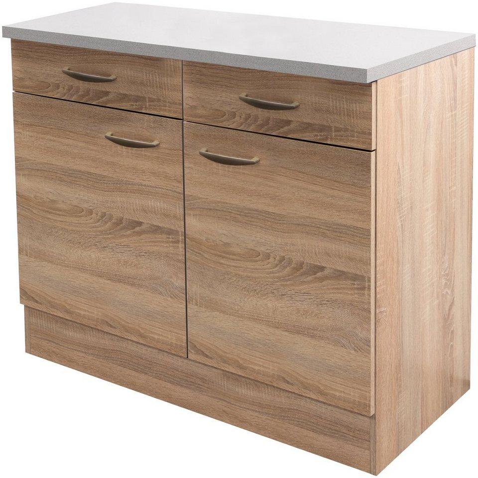 Küchenunterschrank »Bergen«, Breite 100 cm/ Tiefe 60 cm in eichefarben sonoma