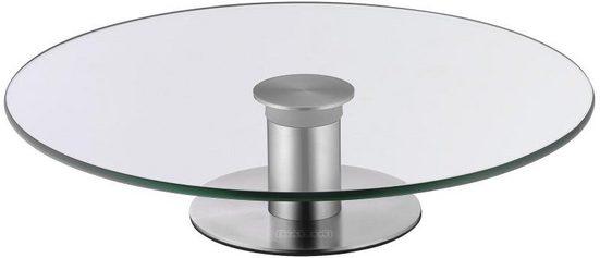 Kaiser Backformen Tortenplatte »2-in-1«, Glas, Edelstahl, Made in Germany