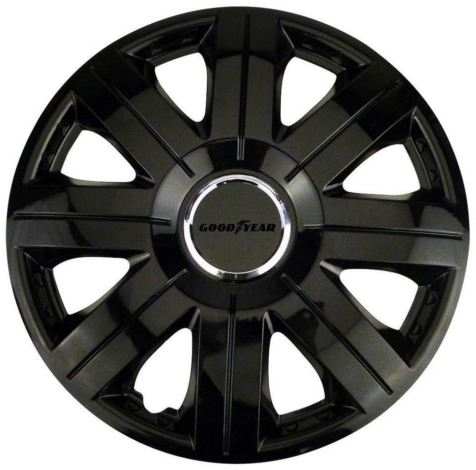 Set: Radkappen »Flexo schwarz«, 16 Zoll in schwarz