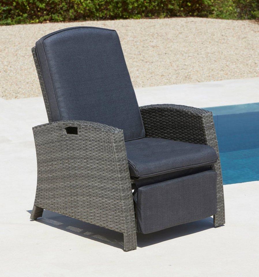 Relaxsessel garten weiß  Relaxsessel Polyrattan, verstellbar, inkl. Auflagen online kaufen | OTTO