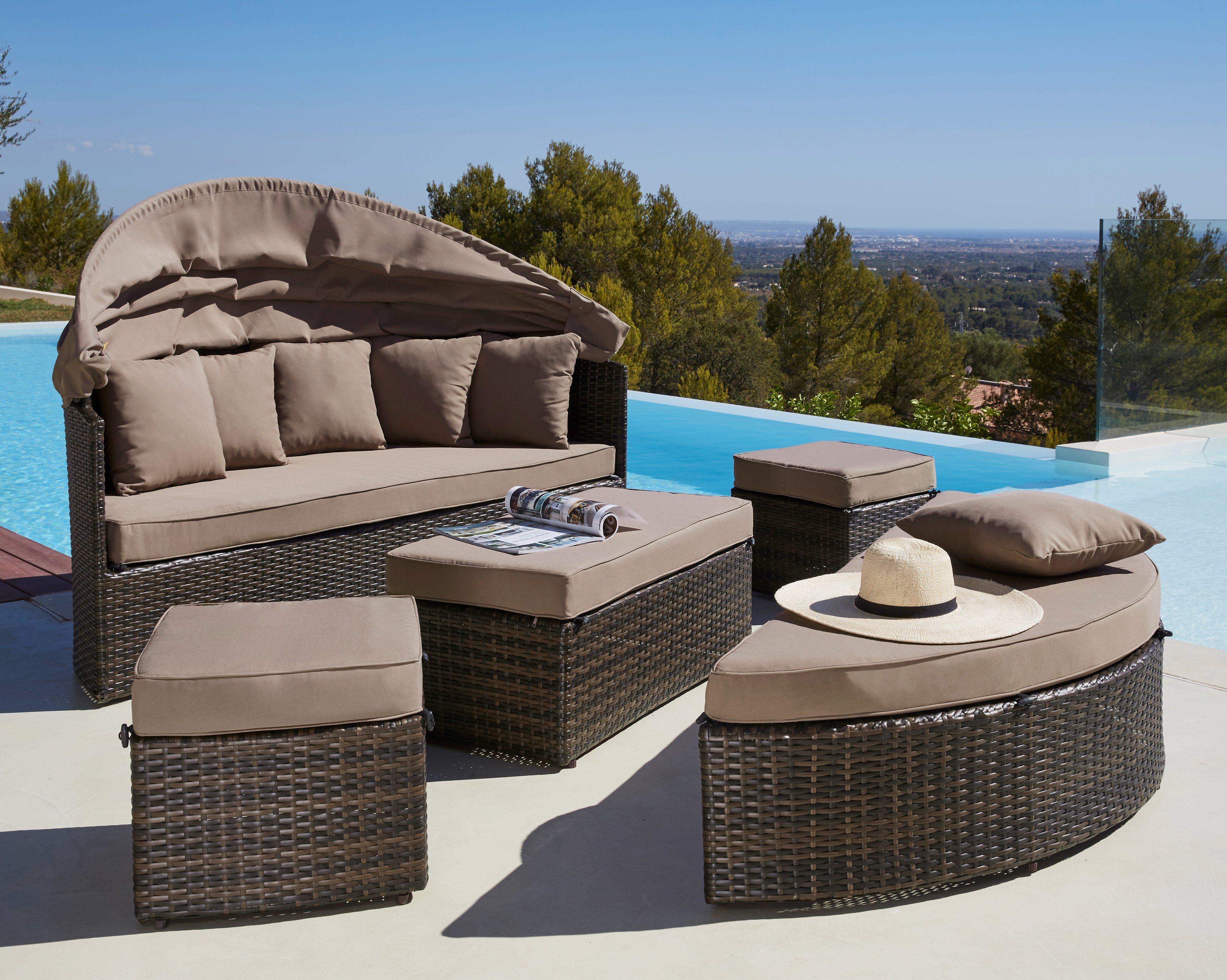 Loungebett »Multifunktionsbett Riva«, Polyrattan | Schlafzimmer > Betten > Funktionsbetten