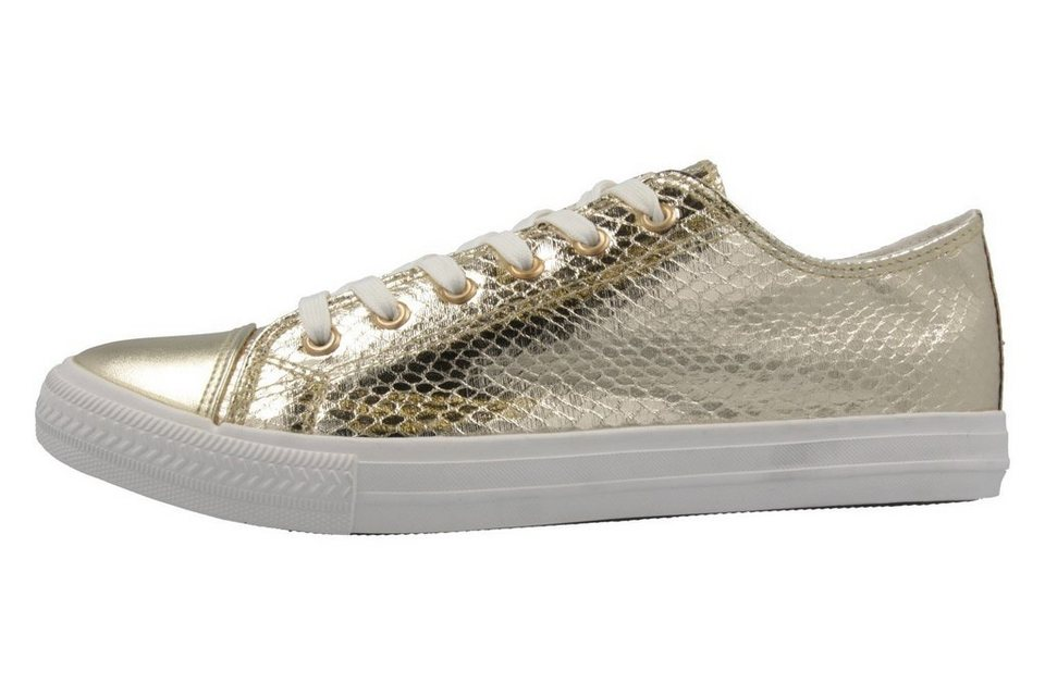 Fitters Footwear Sneaker in Gold