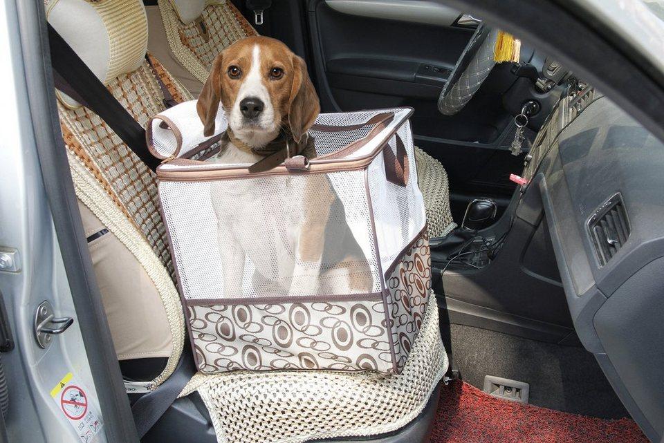HTI-Line Transporttasche für Kleintiere »Teddy« in Weiß, Braun