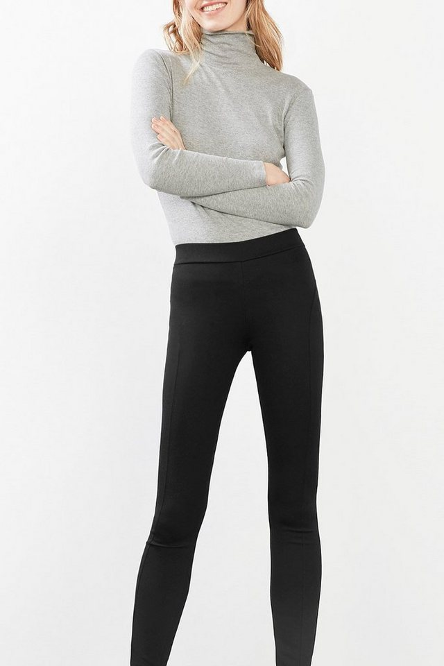 EDC Leggings aus festem Stretch-Jersey in BLACK