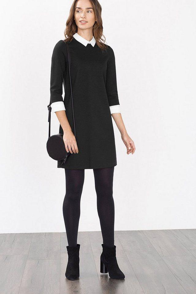 ESPRIT CASUAL Jersey-Kleid mit Stoff-Details in BLACK