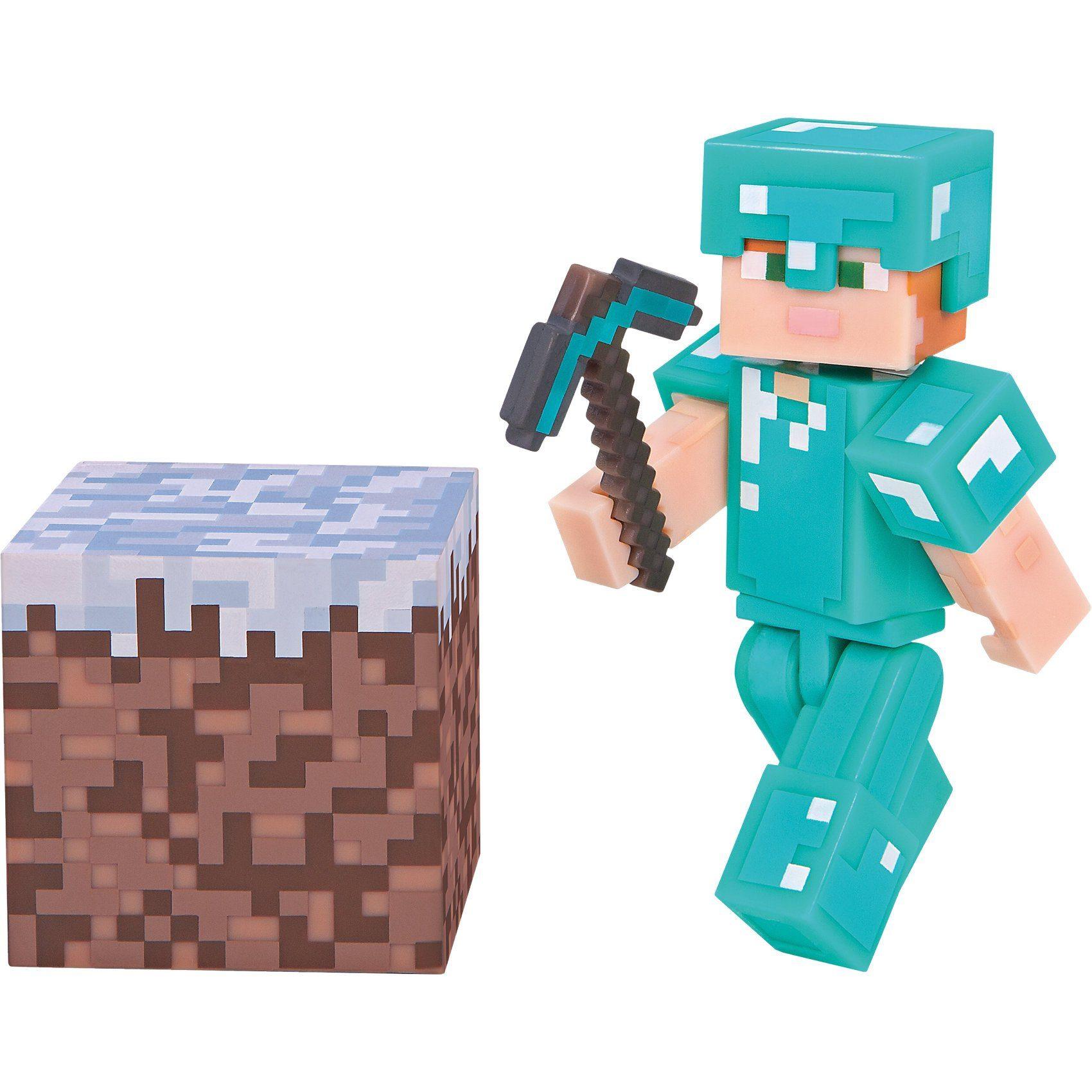 Jazwares Minecraft - Alex mit Diamantrüstung mit Accessoire