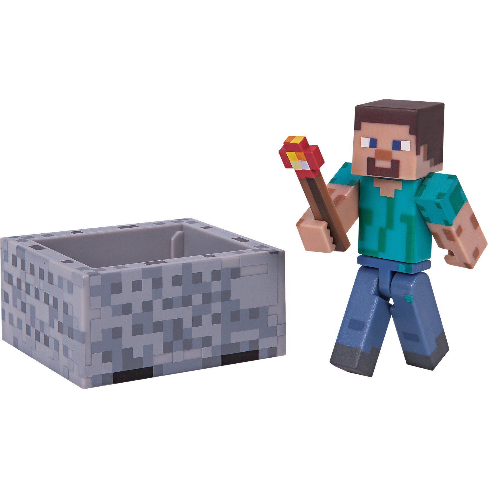 Jazwares Minecraft - Steve mit Minecart mit Accessoire