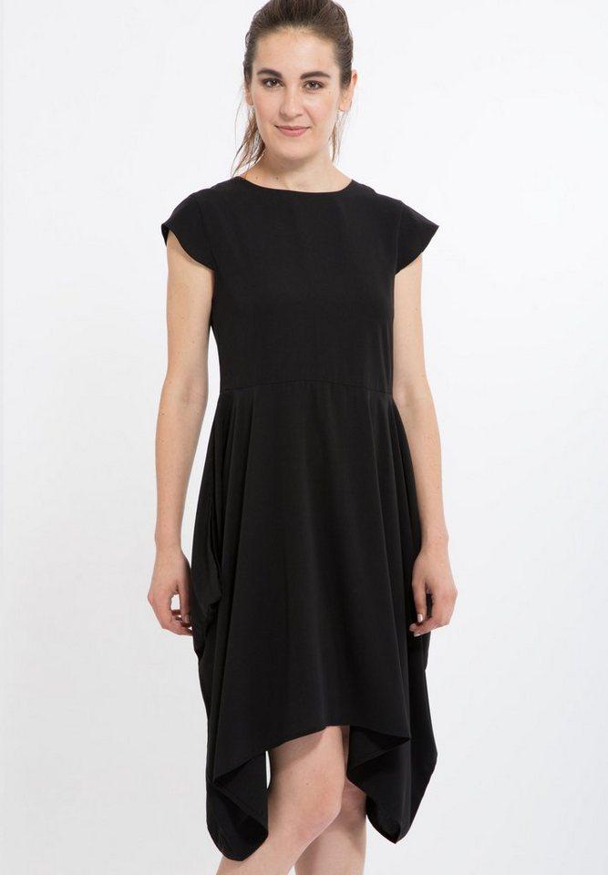 Mexx Sommerkleid mit Zipfelrock in schwarz