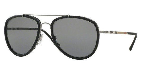 BURBERRY Burberry Herren Sonnenbrille » BE3090Q«, grau, 100387 - grau/grau
