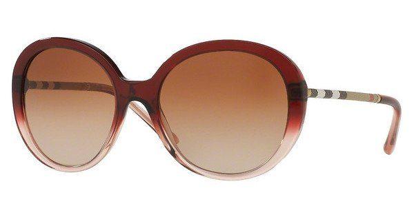 BURBERRY Burberry Damen Sonnenbrille » BE4239Q«, rot, 355313 - rot/braun