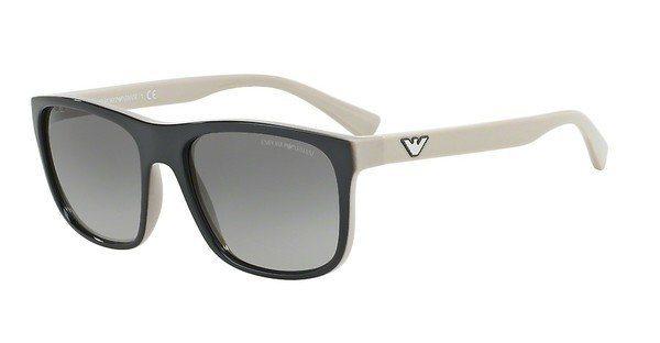 Emporio Armani Herren Sonnenbrille » EA4085« in 555711 - grau/grau