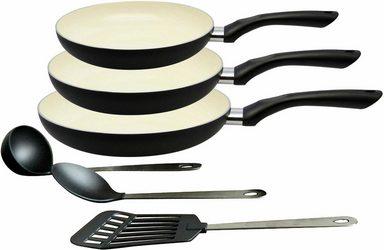 Elo - Meine Küche Pfannen-Set, Aluminium (Set, 3 tlg), Induktion