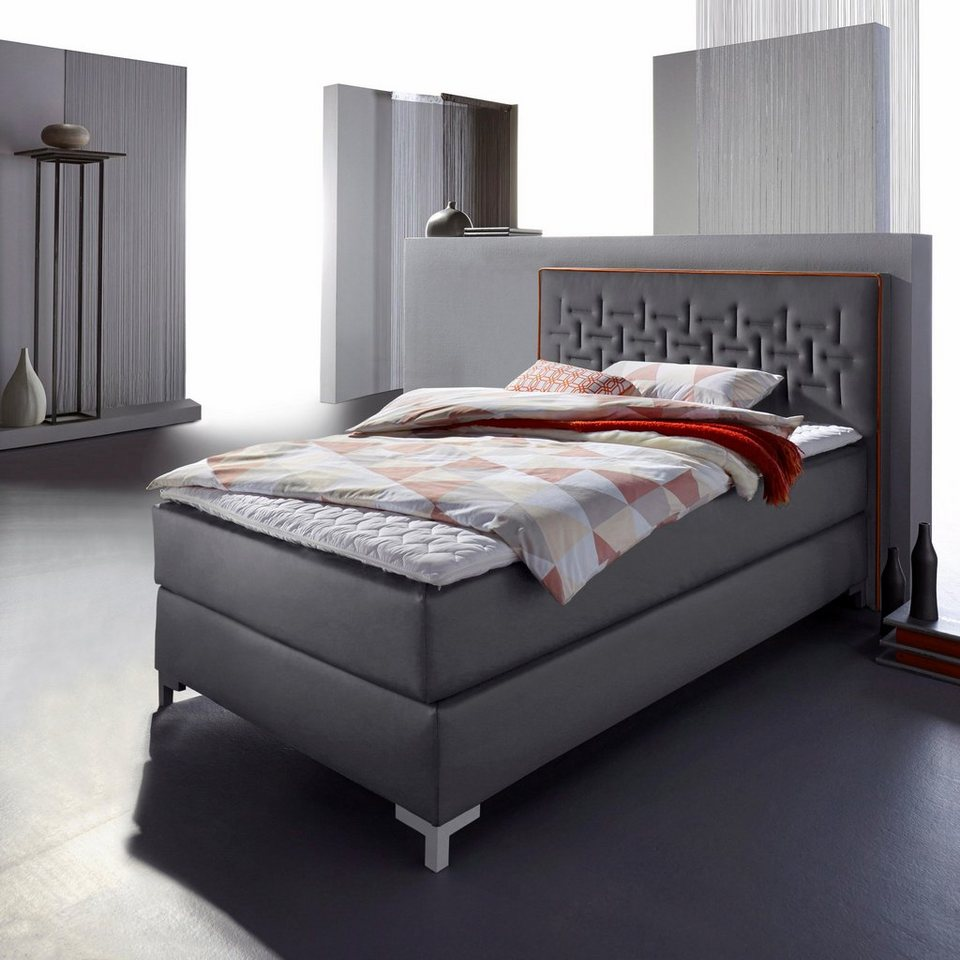 inosign boxspringbett mit gestepptem kopfteil made in germany online kaufen otto. Black Bedroom Furniture Sets. Home Design Ideas