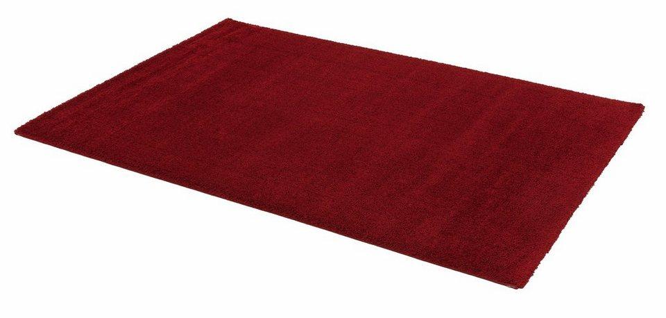 Hochflor-Teppich, Astra, »Rivoli«, Höhe 30 mm, gewebt in rot