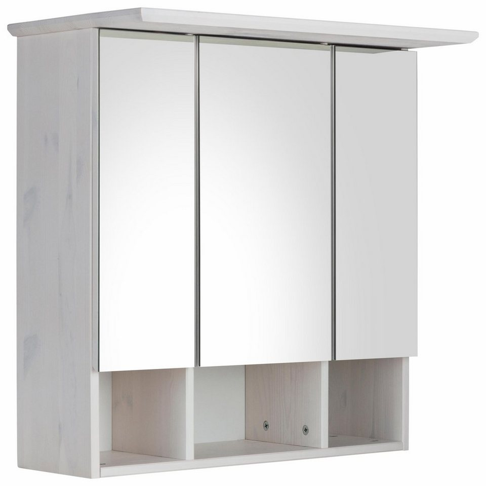 Blickfang Spiegelschrank 3 Türig Dekoration Von Farbe: Geölt