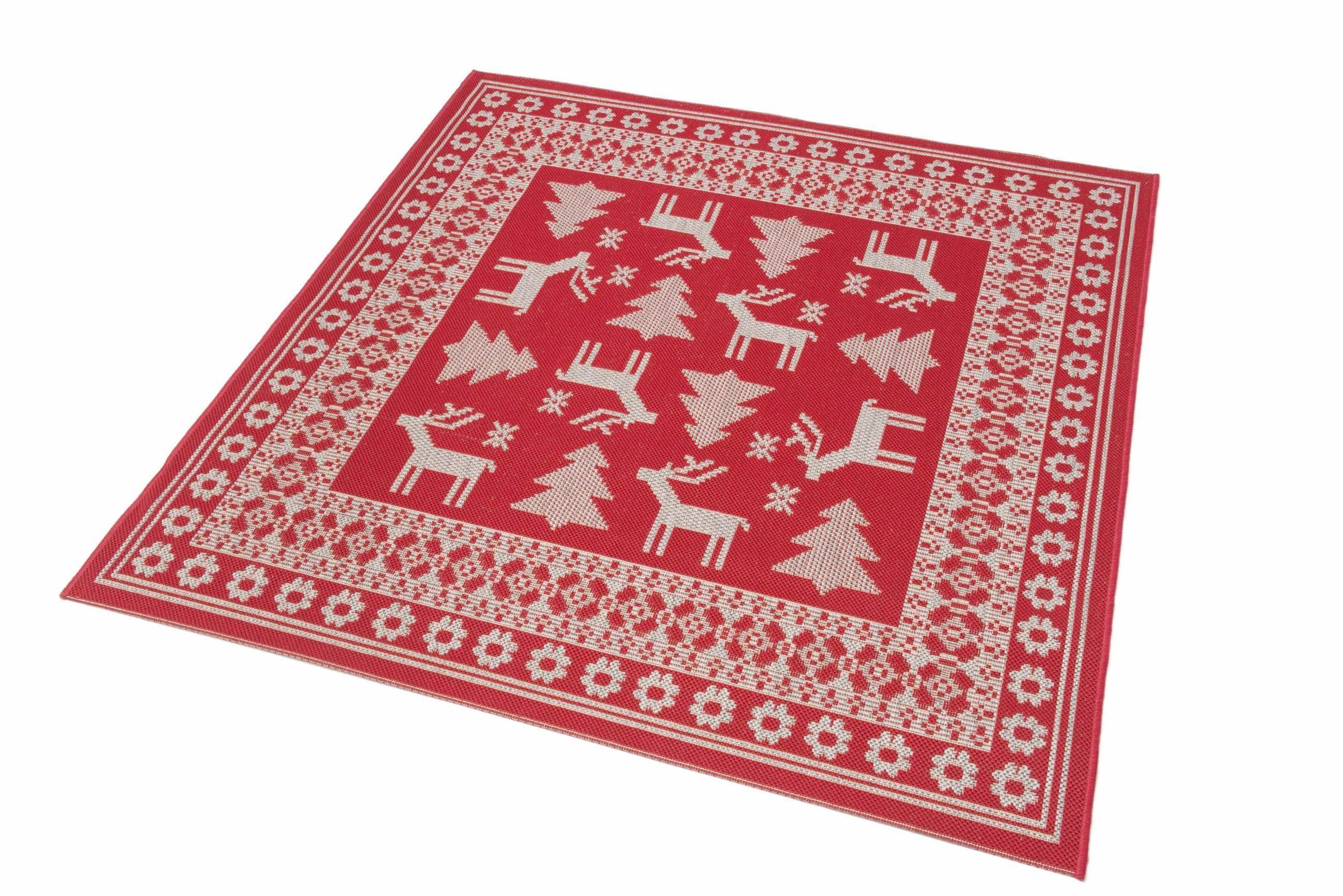 Teppich »Weihnachtsteppich«, Teppich Kontor Hamburg, quadratisch, Höhe 5 mm, abwaschbar