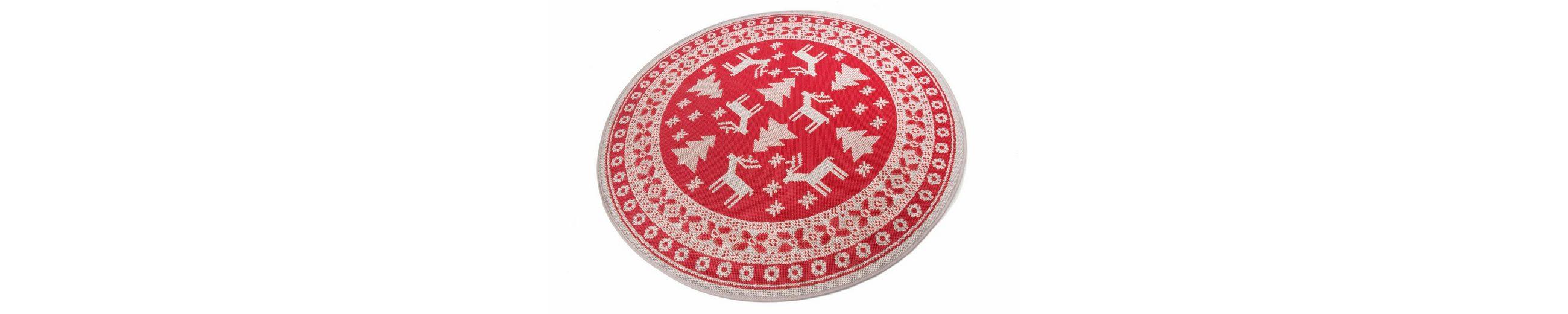 Teppich, rund, Teppich Kontor Hamburg, »Weihnachtsteppich