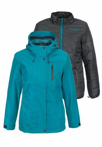 Damen Polarino 3-in-1-Funktionsjacke inklusive Steppinnenjacke blau | 06959219453470