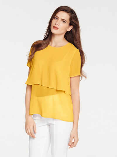 TIMELESS Chiffonbluse Lagen-Look
