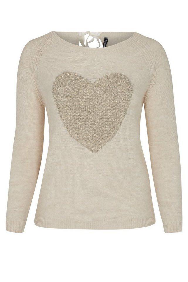 Paprika V-Ausschnitt-Pullover in weiß