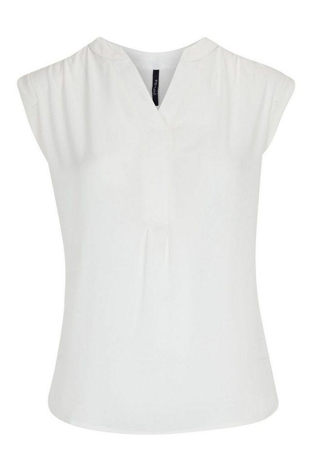 Paprika Blusentop »Sommerhemd aus Krepp« in weiß
