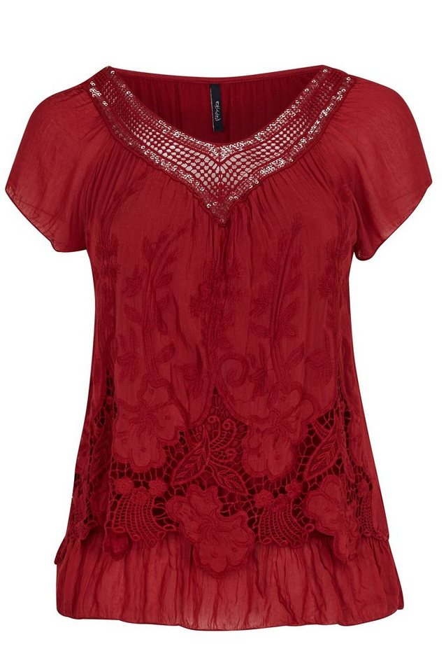 Paprika Klassische Bluse in rot