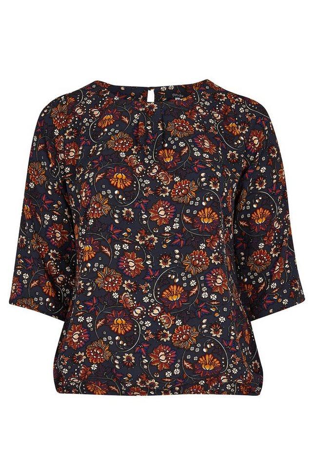 Paprika Klassische Bluse »Bluse mit Blumenaufdruck« in blau