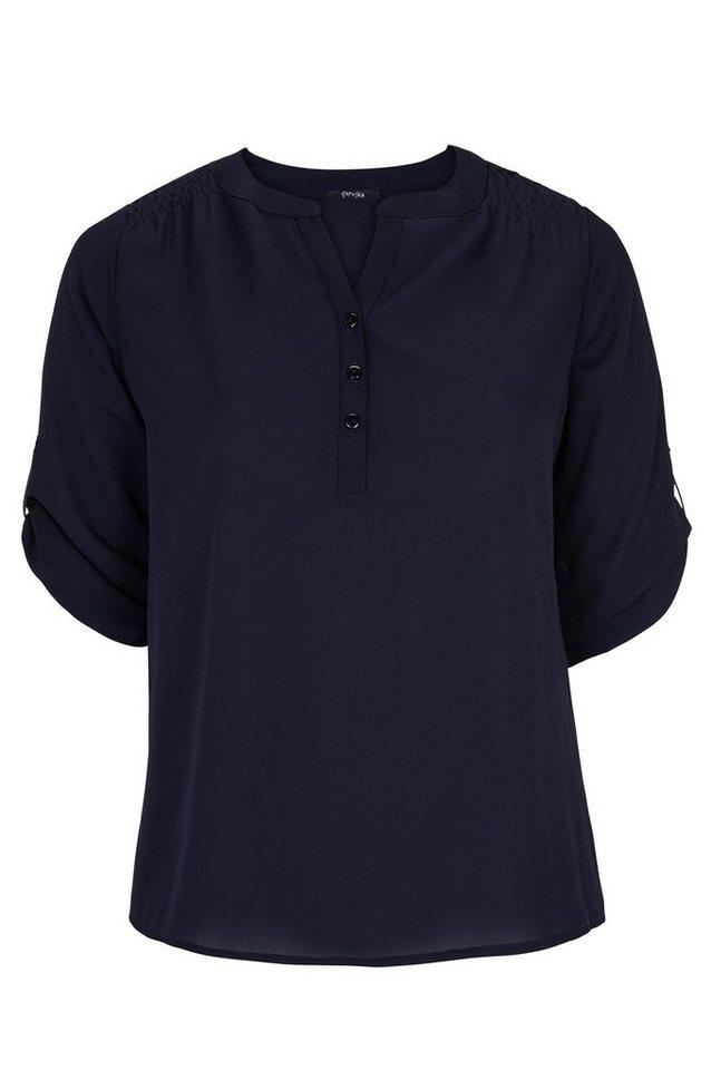 Paprika Klassische Bluse »Bluse in einfarbigem Schleier« in blau