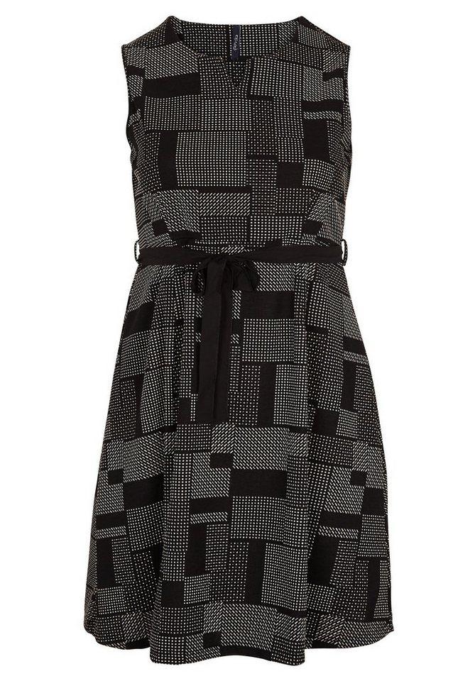 Paprika Druckkleid »Kleid mit grafischem Aufdruck« in schwarz