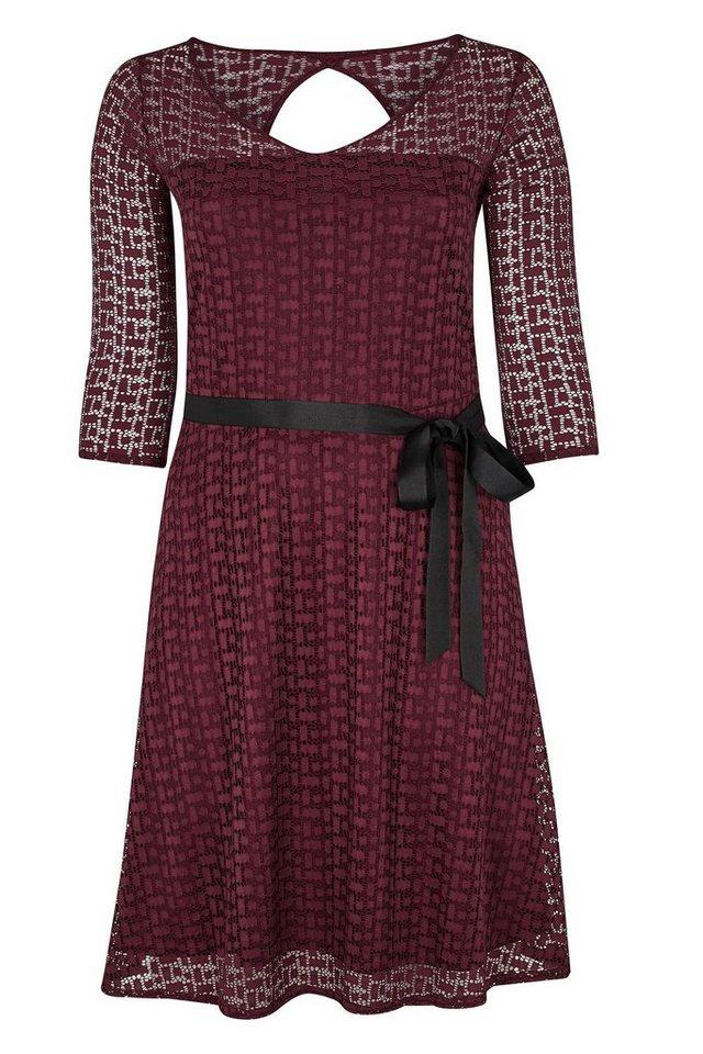 Paprika Spitzenkleid »Kleid mit geometrischen Spitzen« in lila