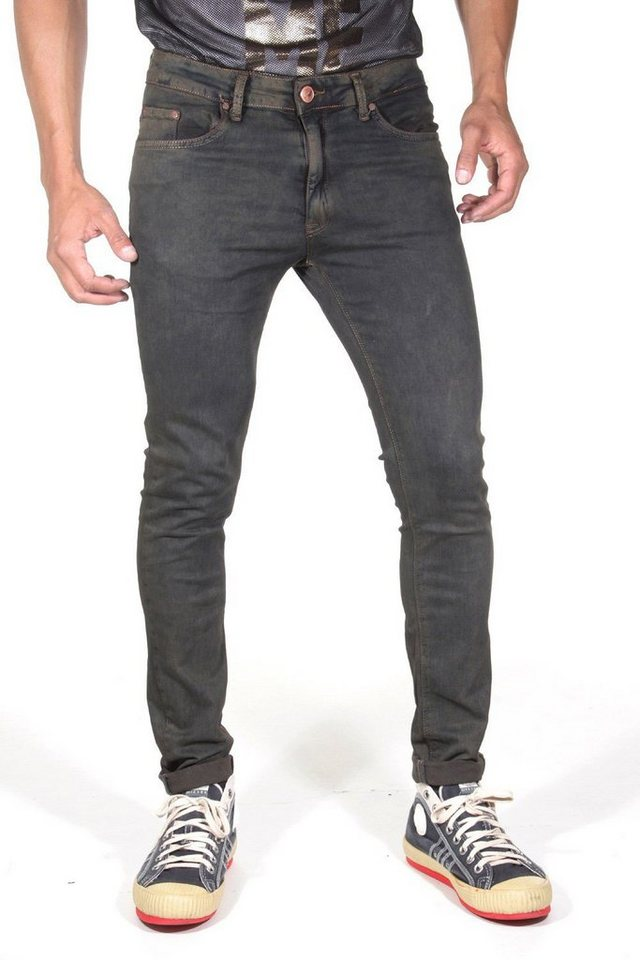 CATCH 5 Pocket Jeans slim fit in schwarz/petrol