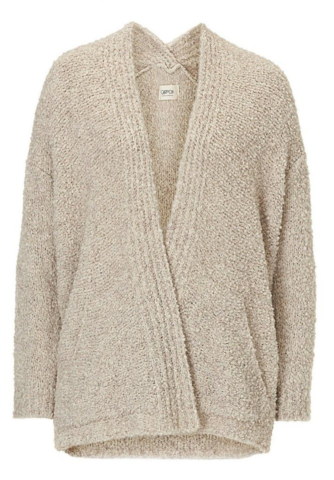 Cartoon Strickjacke in Beige - Braun