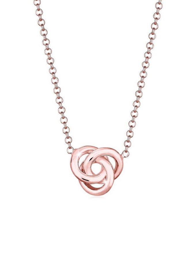 Elli Halskette »Knoten Knot 925 Sterling Silber« in Rosegold
