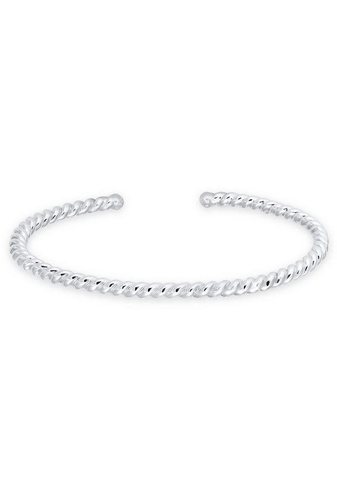 Elli Armband »Bangle gedreht 925 Sterling Silber« in Silber