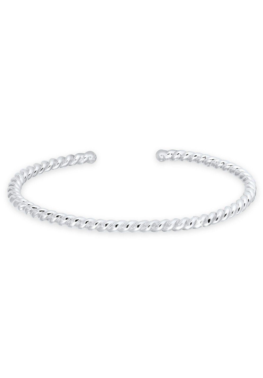 Elli Armband »Basic Bangle Gedreht Braided 925 Sterling Silber«