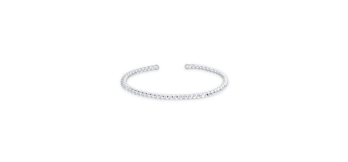 Elli Armband »Bangle gedreht 925 Sterling Silber«