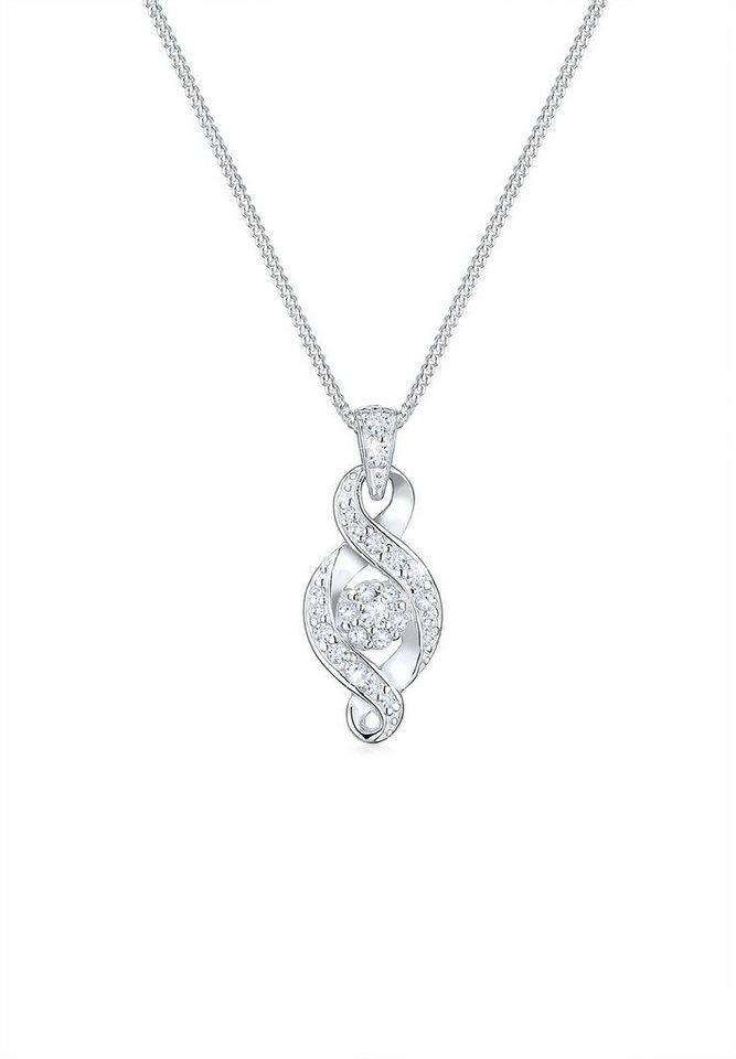 Elli Halskette »Unendlichkeit Zirkonia 925 Sterling Silber« in Silber