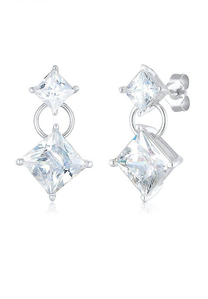 Elli Ohrringe »Zirkonia Kristall 925 Sterling Silber« in Silber