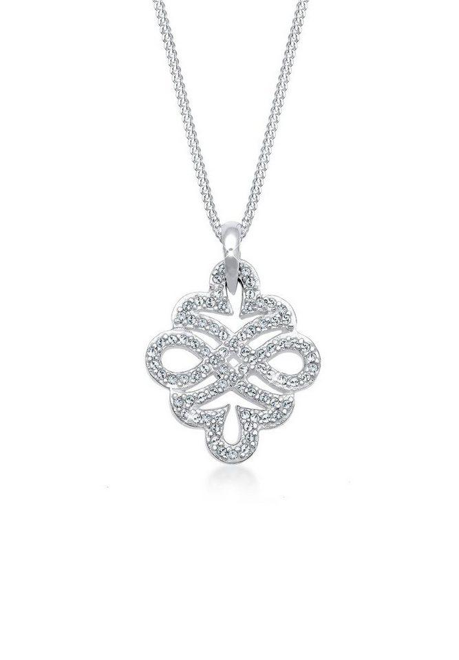 Elli Halskette »Ornament Swarovski® Kristalle 925 Sterling Silber« in Silber