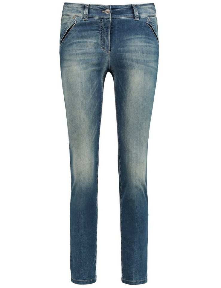 Gerry Weber Hose Jeans verkürzt »Jeans Roxy Cropped« in Denim Blau