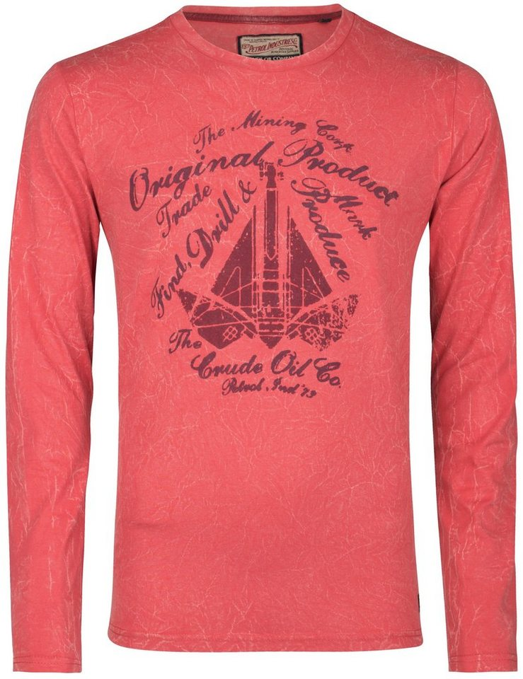 Petrol Industries Langarmshirt in faded red