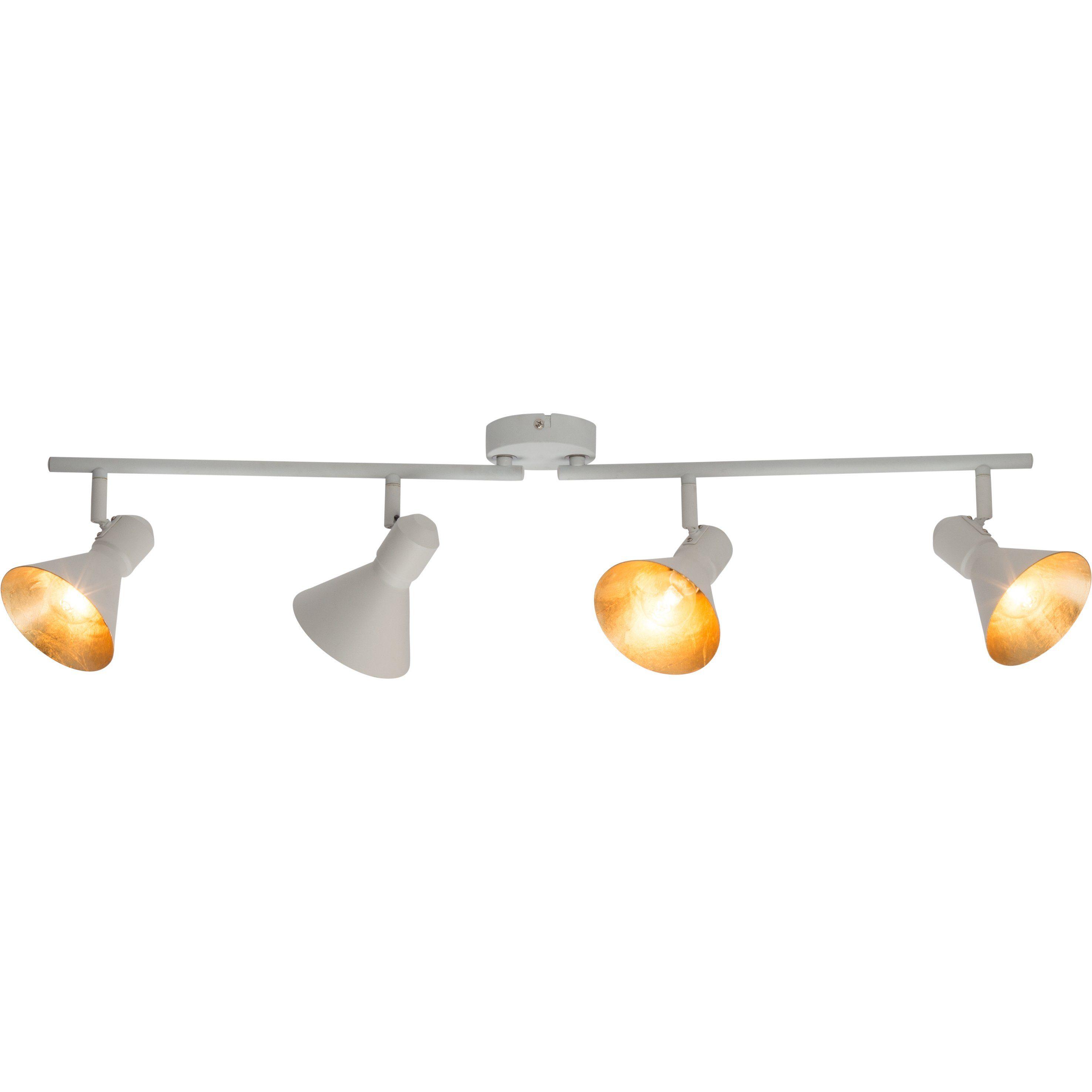 Brilliant Leuchten Aztekas Spotrohr, 4-flammig weiß/gold