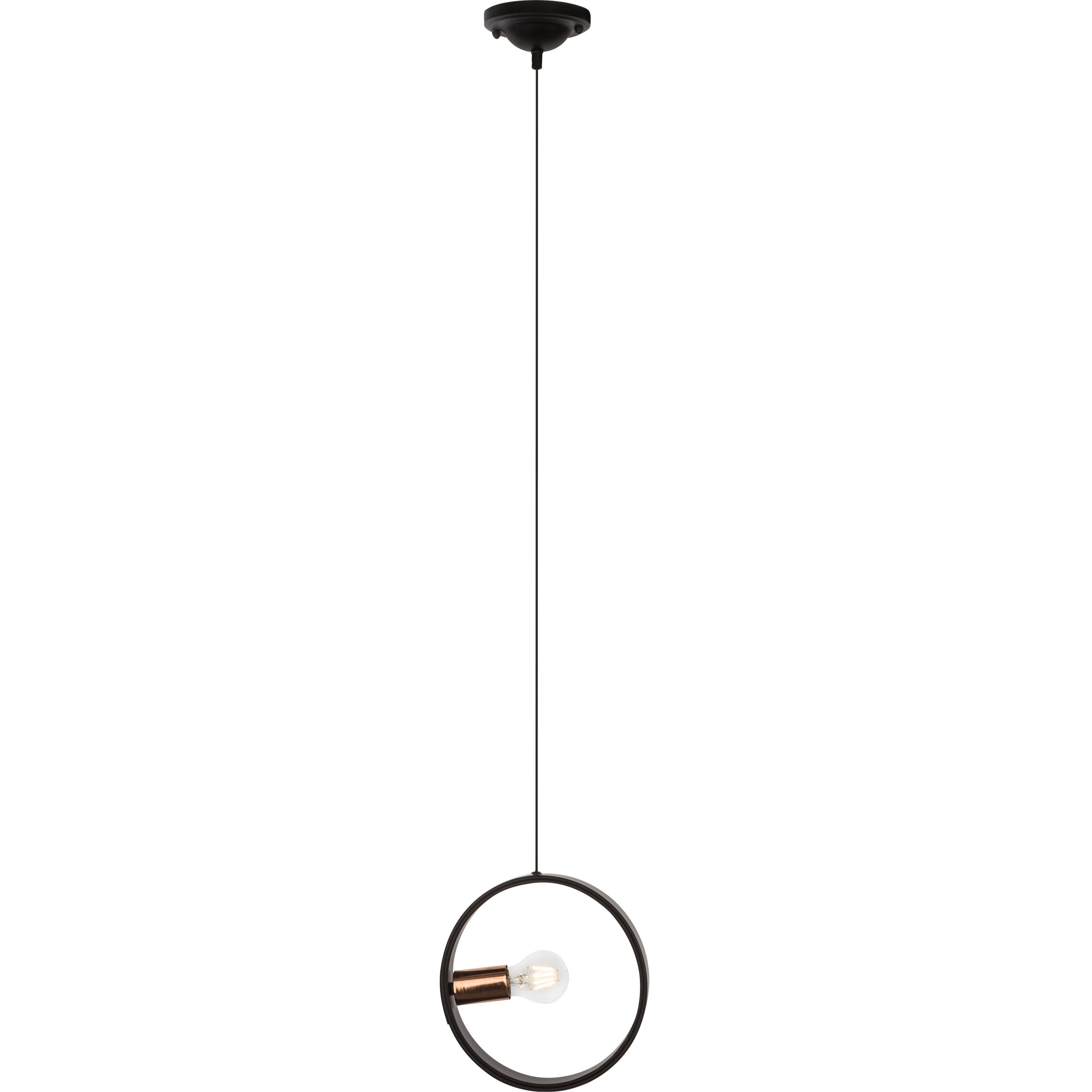 Brilliant Leuchten Coriolis Pendelleuchte, 1-flammig schwarz/kupfer