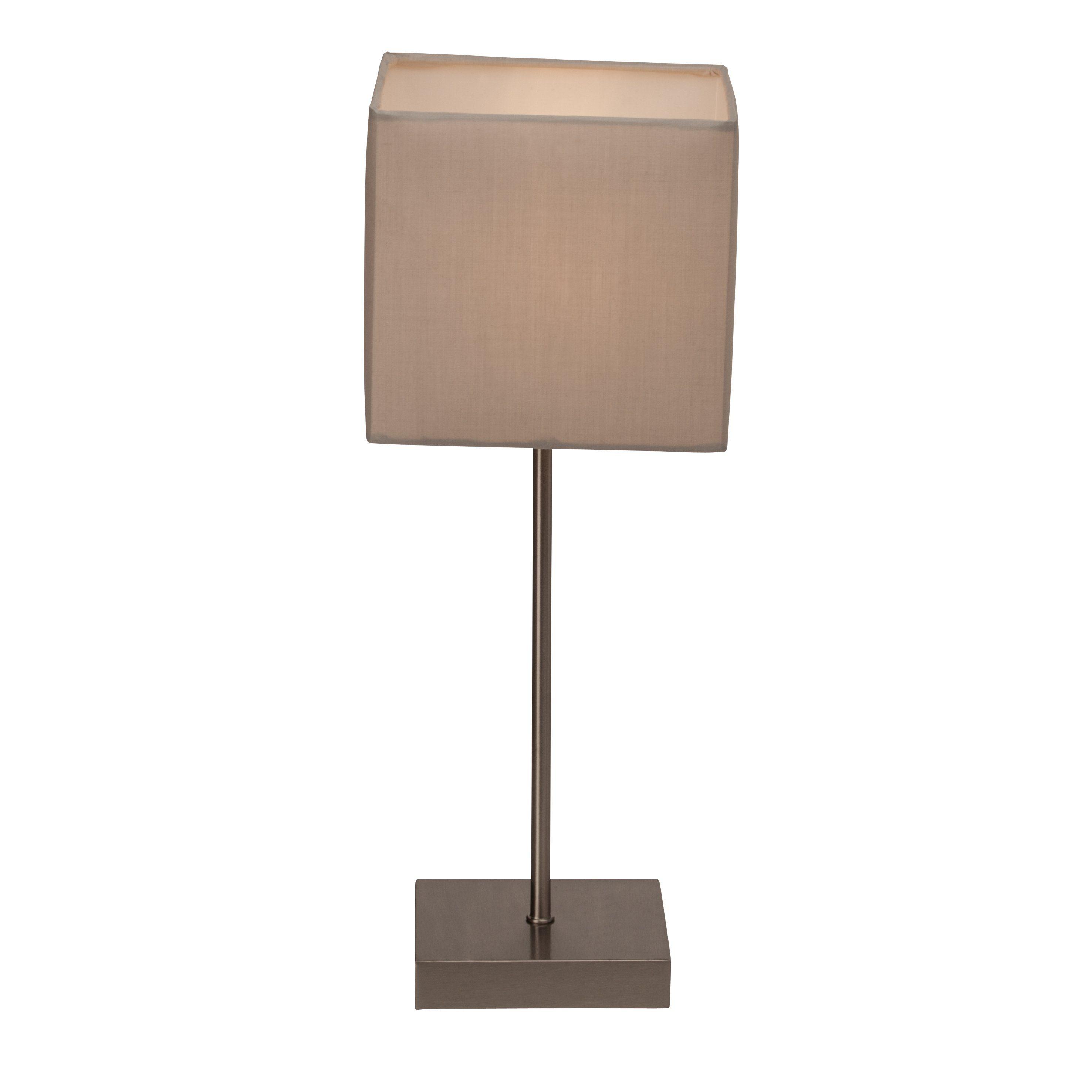 Brilliant Leuchten Aglae Tischleuchte mit Touchschalter grau