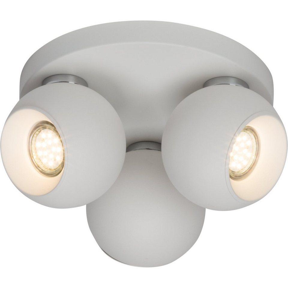 Brilliant Leuchten White Ball Spotrondell, 3-flammig weiß in weiß