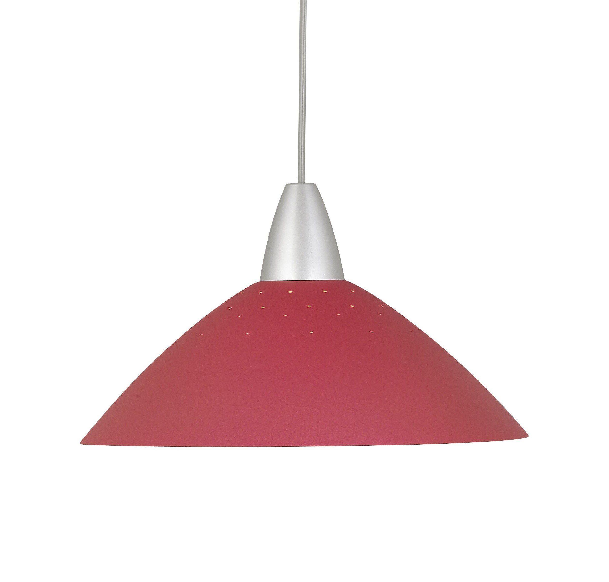 Brilliant Leuchten Logo Pendelleuchte, 1-flammig titan/rot