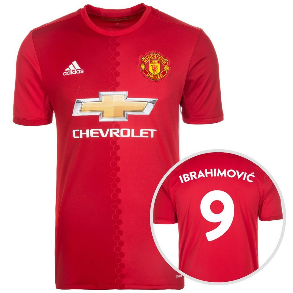 adidas Performance Manchester United Trikot Home Ibrahimovi? 2016/2017 Herren in rot / weiß